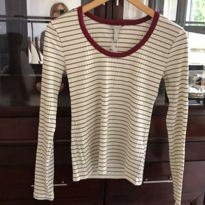 Joie long sleeve stripped top